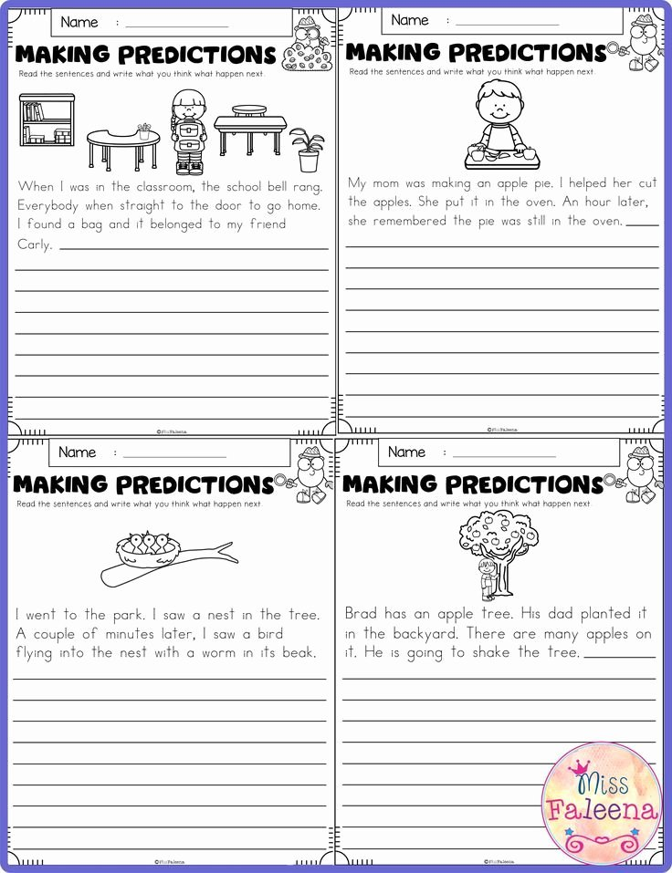 Prediction Worksheets for 2nd Grade Lovely September Making Predictions