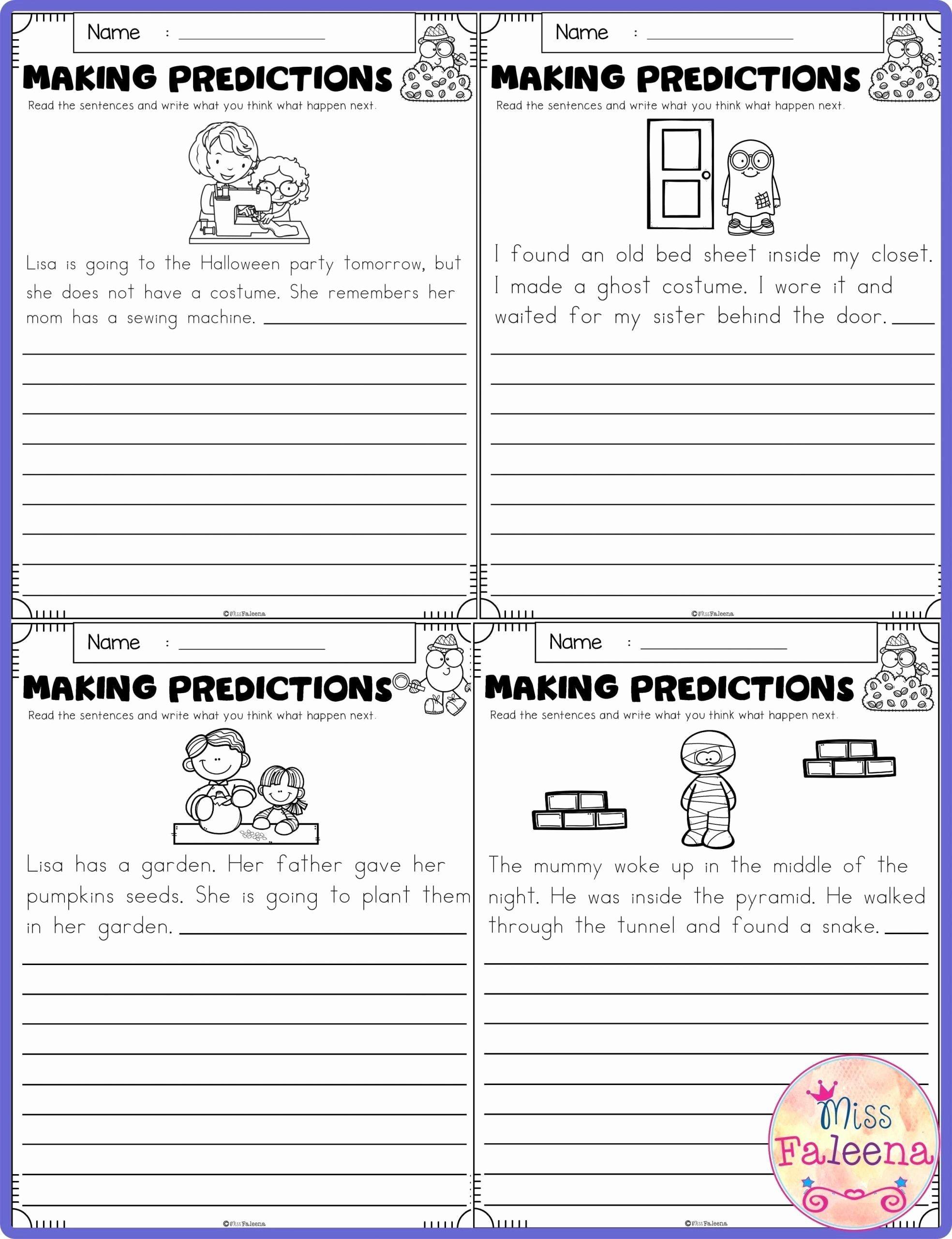 Prediction Worksheets for 3rd Grade Fresh Predictions Worksheets 3rd Grade In 2020