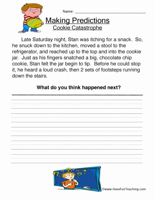 Prediction Worksheets for 3rd Grade Lovely Predictions Worksheets • Have Fun Teaching