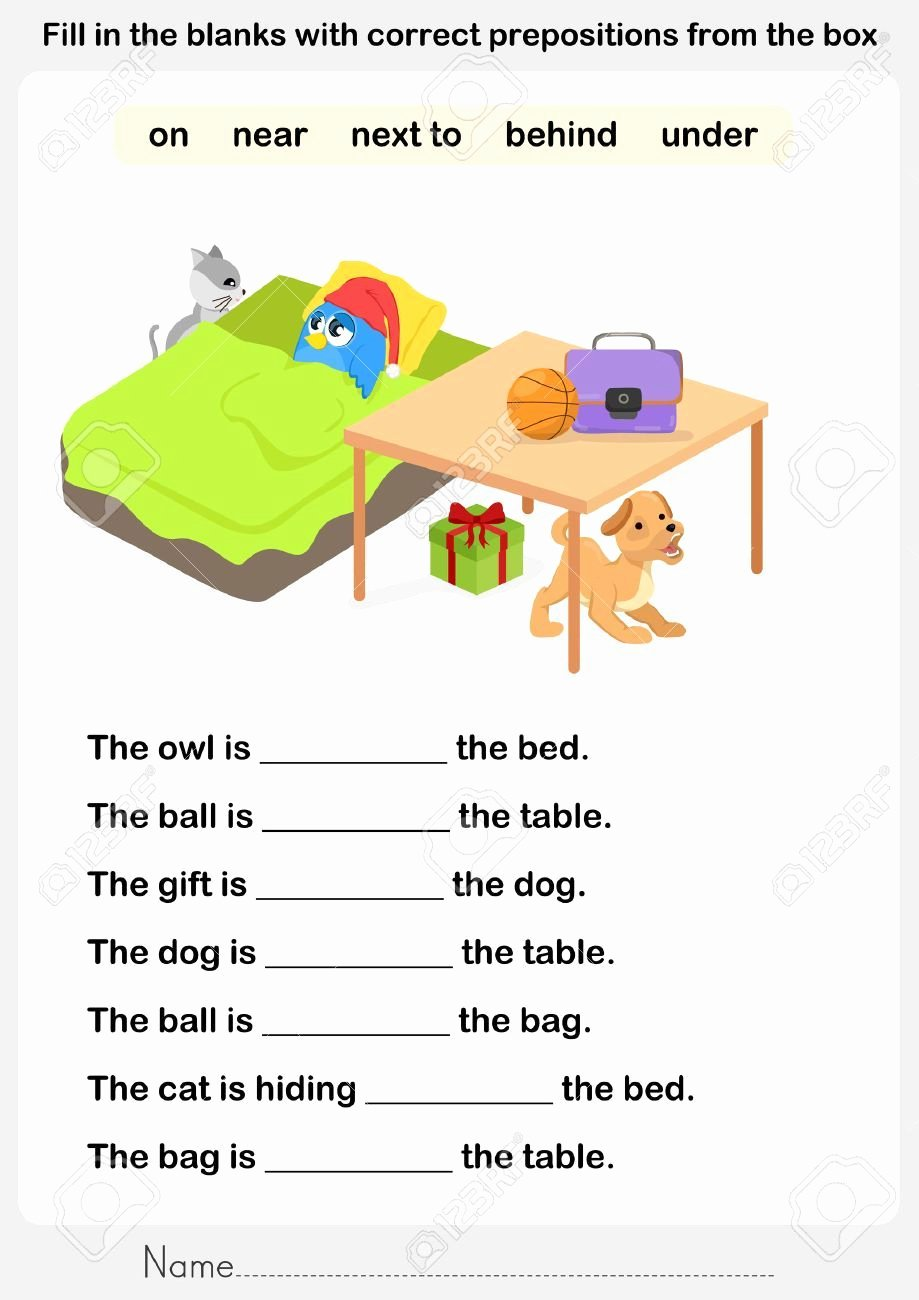 Preposition Worksheets for Grade 1 Best Of Prepositions with Worksheets