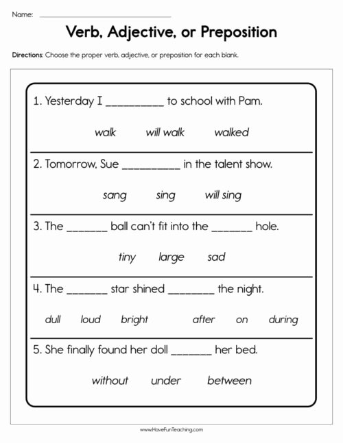Preposition Worksheets for Middle School Best Of Prepositions Worksheets • Have Fun Teaching