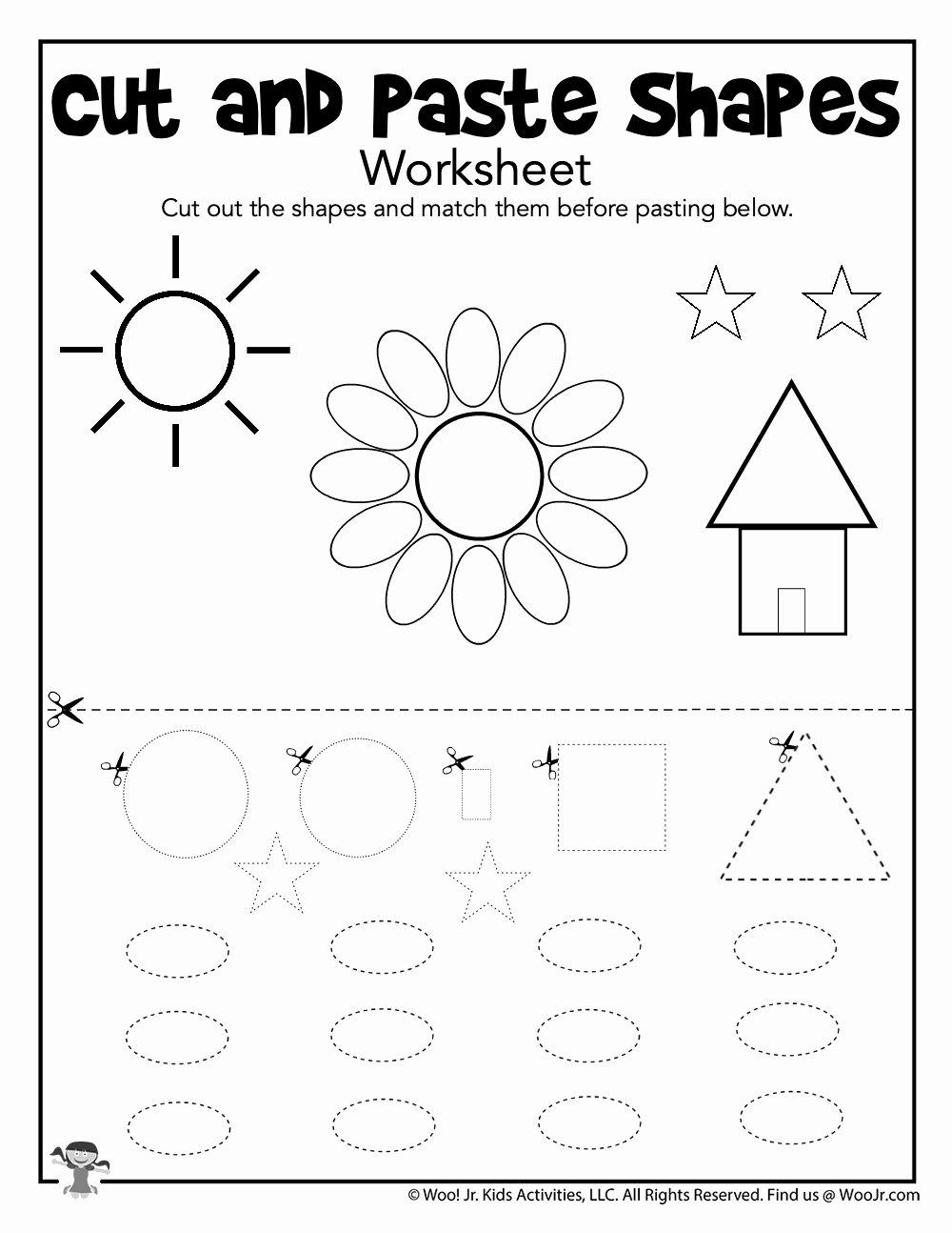 Preschool Cut and Paste Worksheets Ideas Preschool Cut and Paste Worksheet