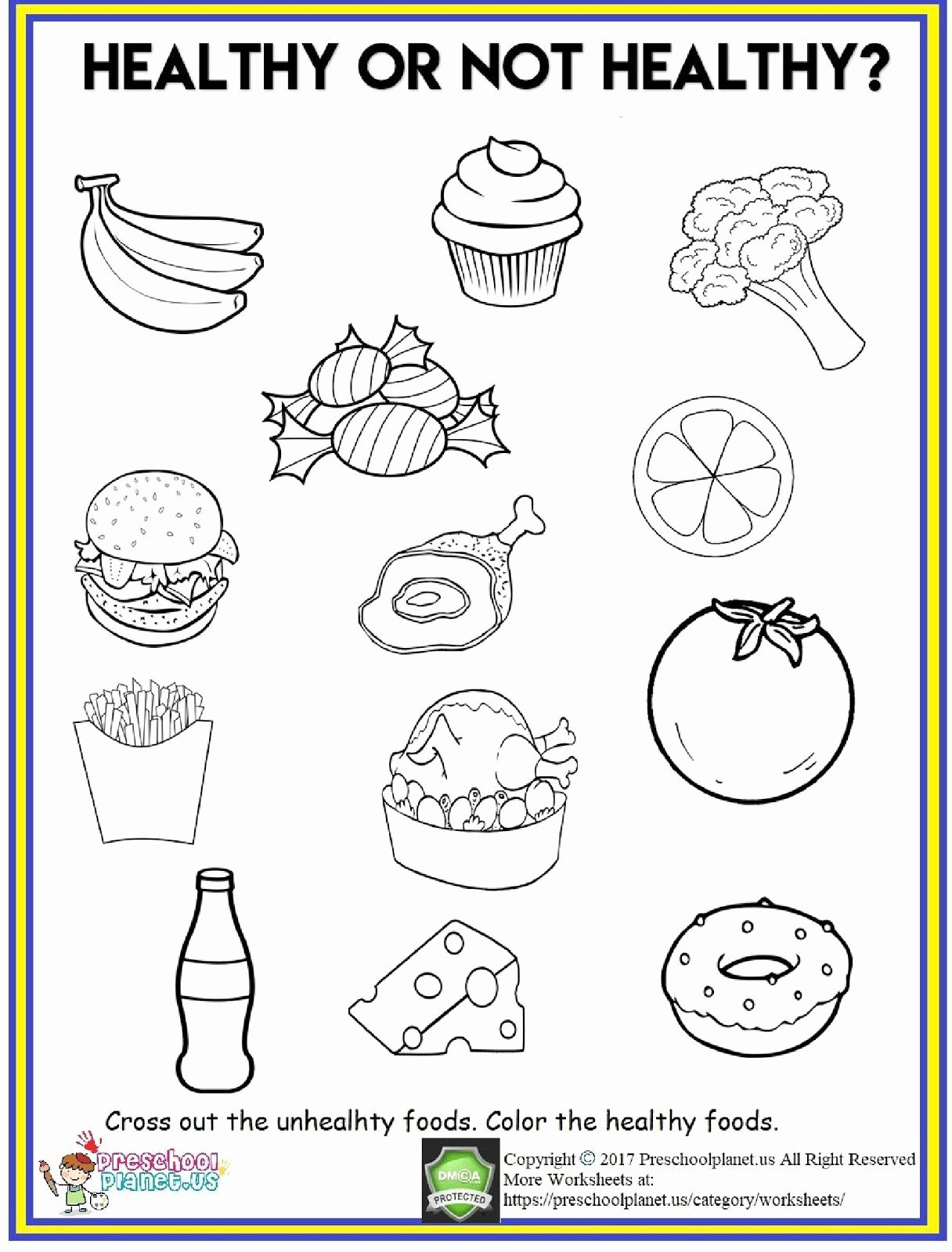 Preschool Fruits and Vegetables Worksheets Inspirational 4 Food Worksheets Preschool Fruits and Ve Ables