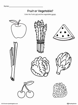 Preschool Fruits and Vegetables Worksheets Inspirational Coloring Pages Color the Fruits and Ve Ables Worksheet