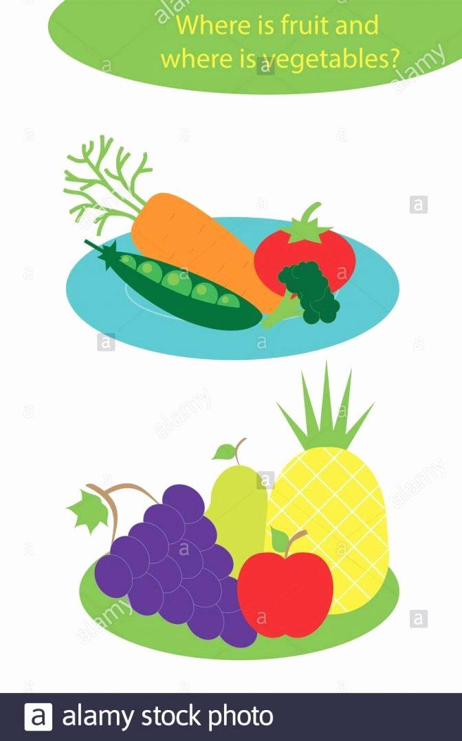 Preschool Fruits and Vegetables Worksheets Inspirational Food Worksheetsool Fruits and Ve Ables Inspirations