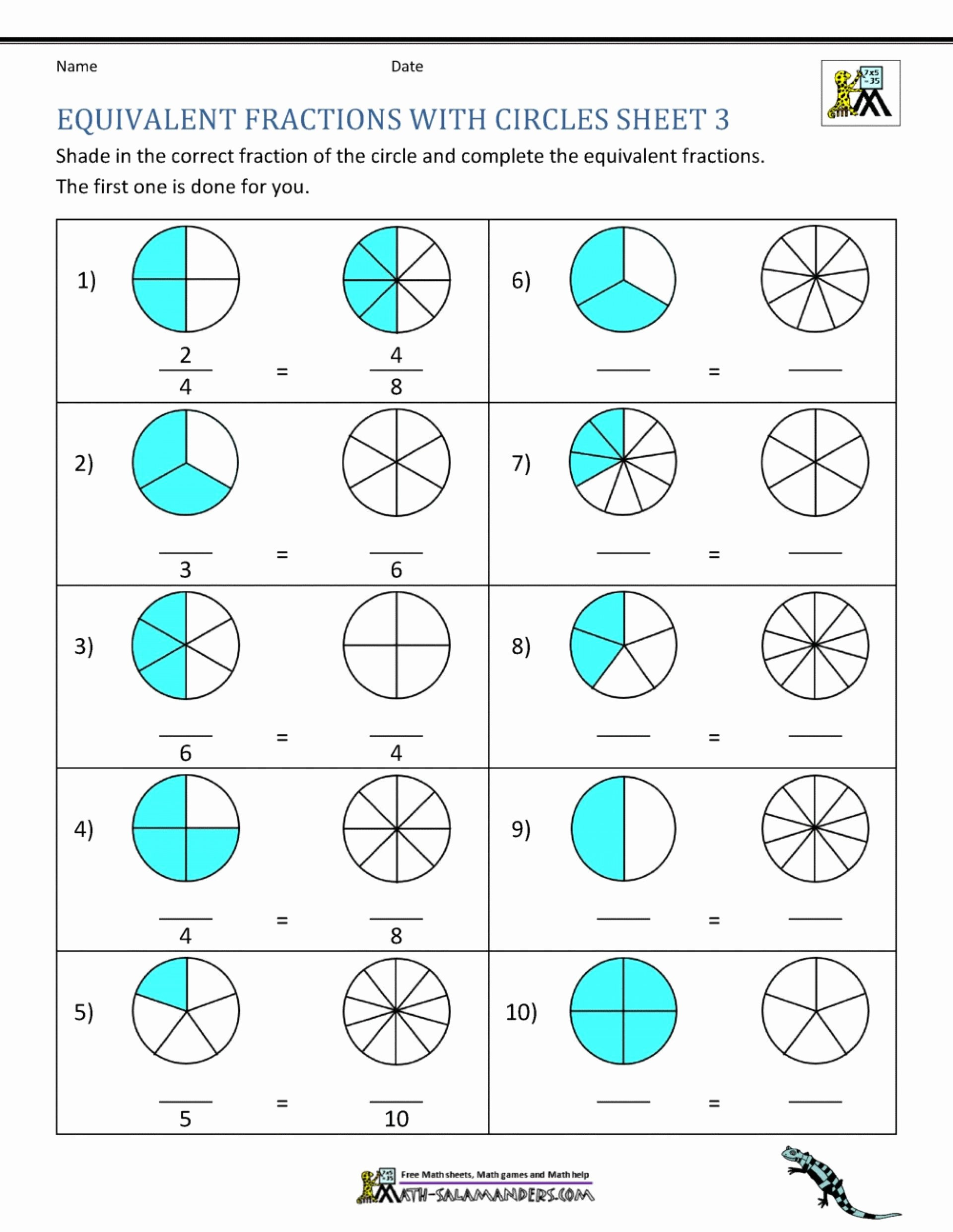 Prime Factorization Worksheet 6th Grade Free Free Math Worksheets Third Grade Fractions and Decimals