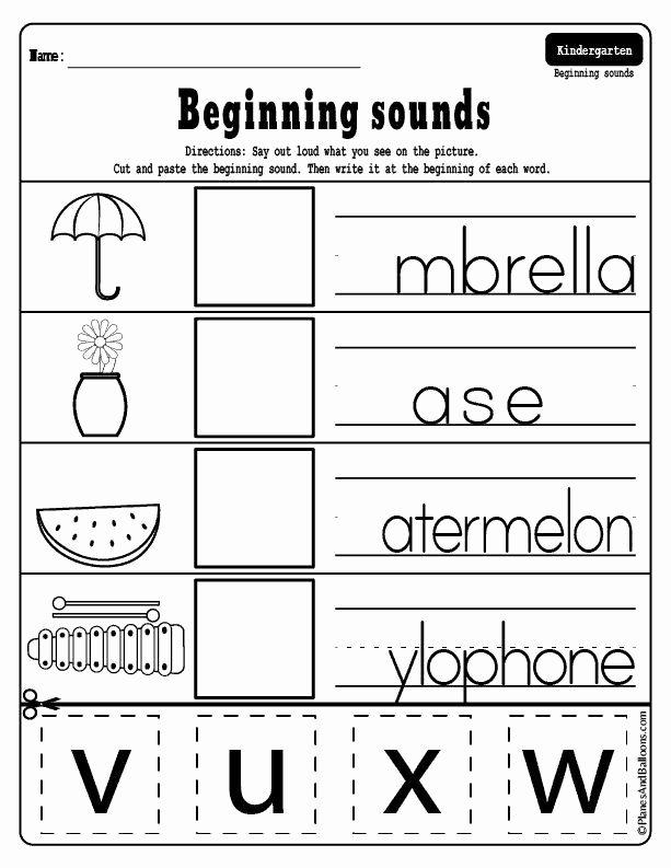 Printable Cut and Paste Worksheets Kids Pin On Preschool Literacy Activities