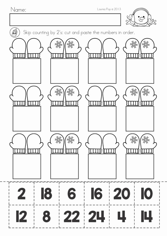 Printable Cut and Paste Worksheets Lovely Math Worksheets for Kindergarten Cut and Paste 2nd Grade