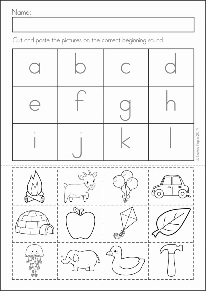 Printable Cut and Paste Worksheets top Pin Alphabet Activities Cut and Glue Worksheets Free