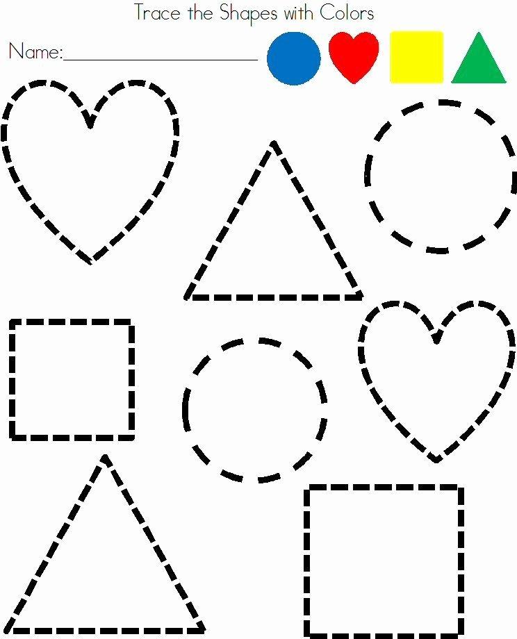 Printable Cutting Worksheets for Preschoolers Best Of Preschool Shapes Tracing Worksheet