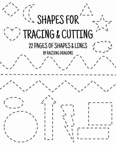 Printable Cutting Worksheets for Preschoolers Best Of Shapes Tracing and Cutting Activity Printable Scissor Skills