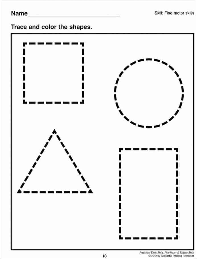 Printable Cutting Worksheets for Preschoolers Inspirational Cutting Shapes Worksheets Activity sort Shape Out Free