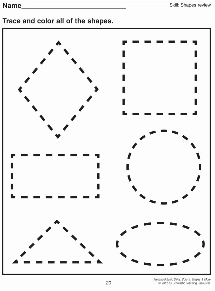 Printable Cutting Worksheets for Preschoolers Inspirational Cutting Shapes Worksheets Kindergarten Preschool Printable
