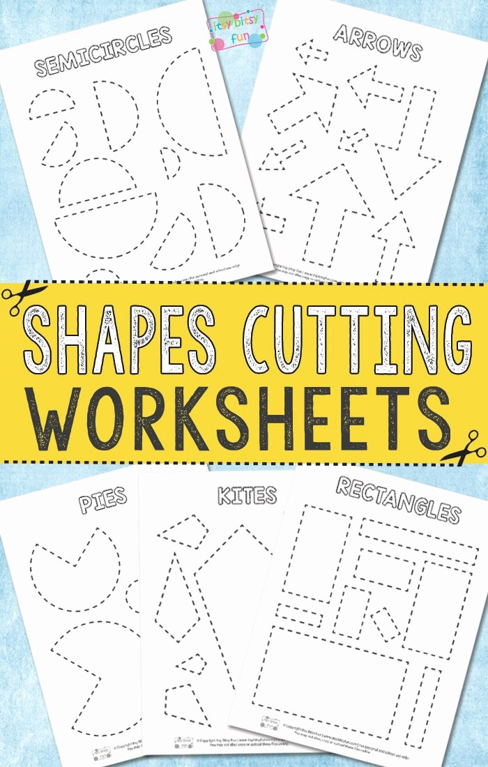 Printable Cutting Worksheets for Preschoolers Kids Cutting Shapes Worksheets Itsybitsyfun