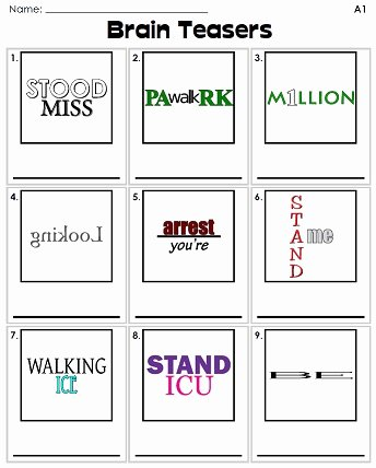 Printable Rebus Puzzles for Kids Ideas Rebus Puzzles