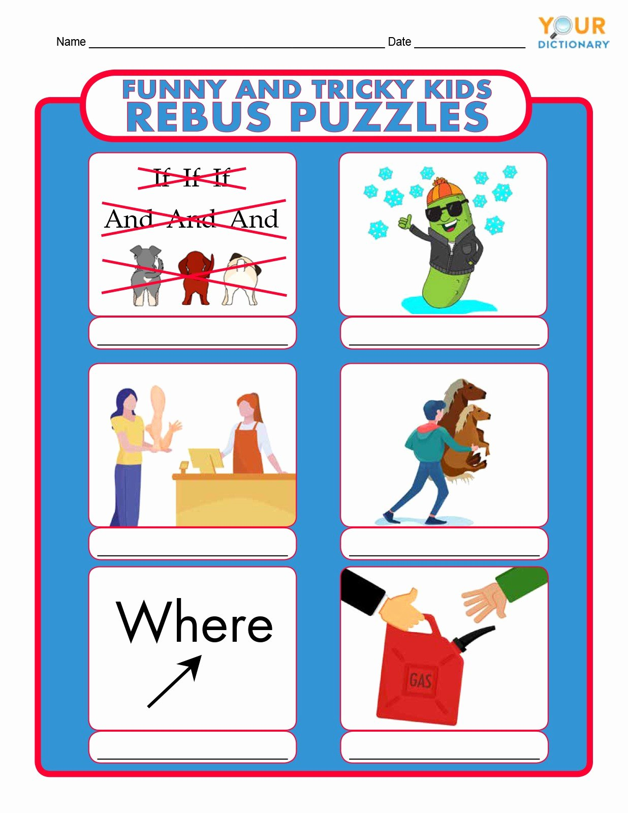 Printable Rebus Puzzles for Kids Inspirational Rebus Puzzles for Kids