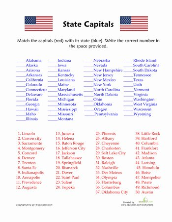 Printable States and Capitals Quiz Inspirational Midwest States and Capitals Map Quiz 50 States and