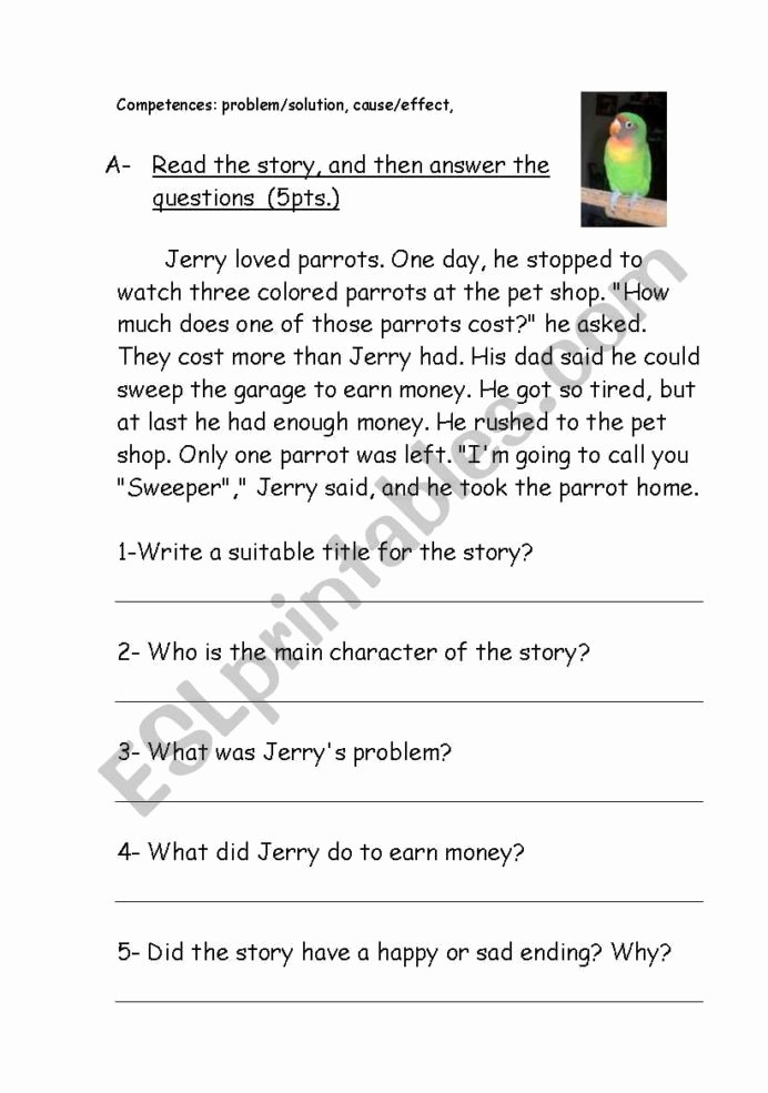 Problem and solution Reading Worksheets Fresh Reading Prehension Problem solution Esl Worksheet by