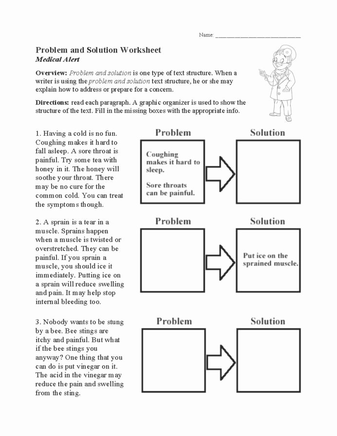 Problem and solution Reading Worksheets Ideas Problem and solution Worksheet Text Structure Activity