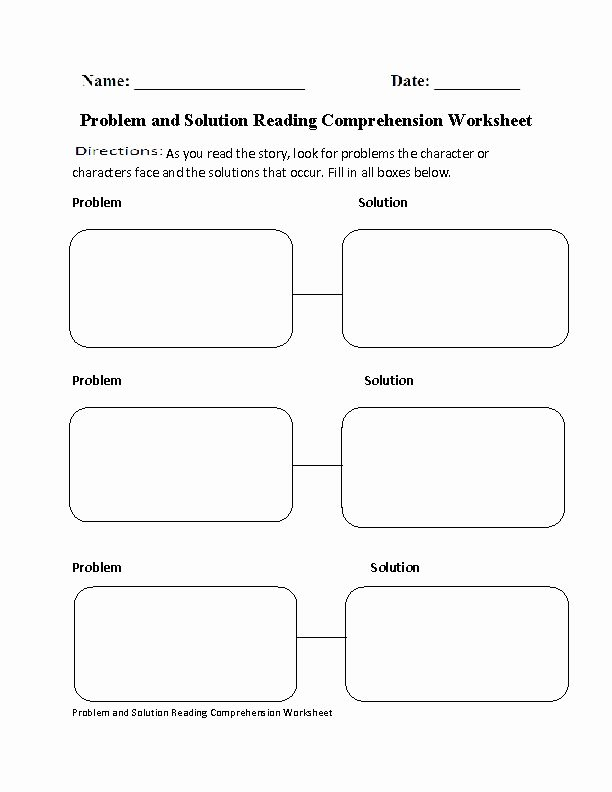 Problem and solution Reading Worksheets Kids Problem and solution Worksheet Fresh Problem and solution