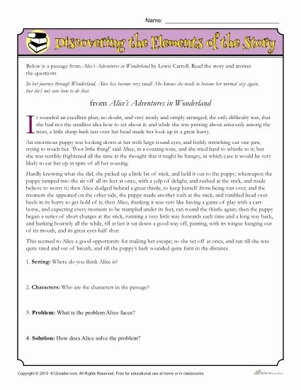 Problem and solution Reading Worksheets top Discovering the Elements Worksheet Parts Worksheets 5th