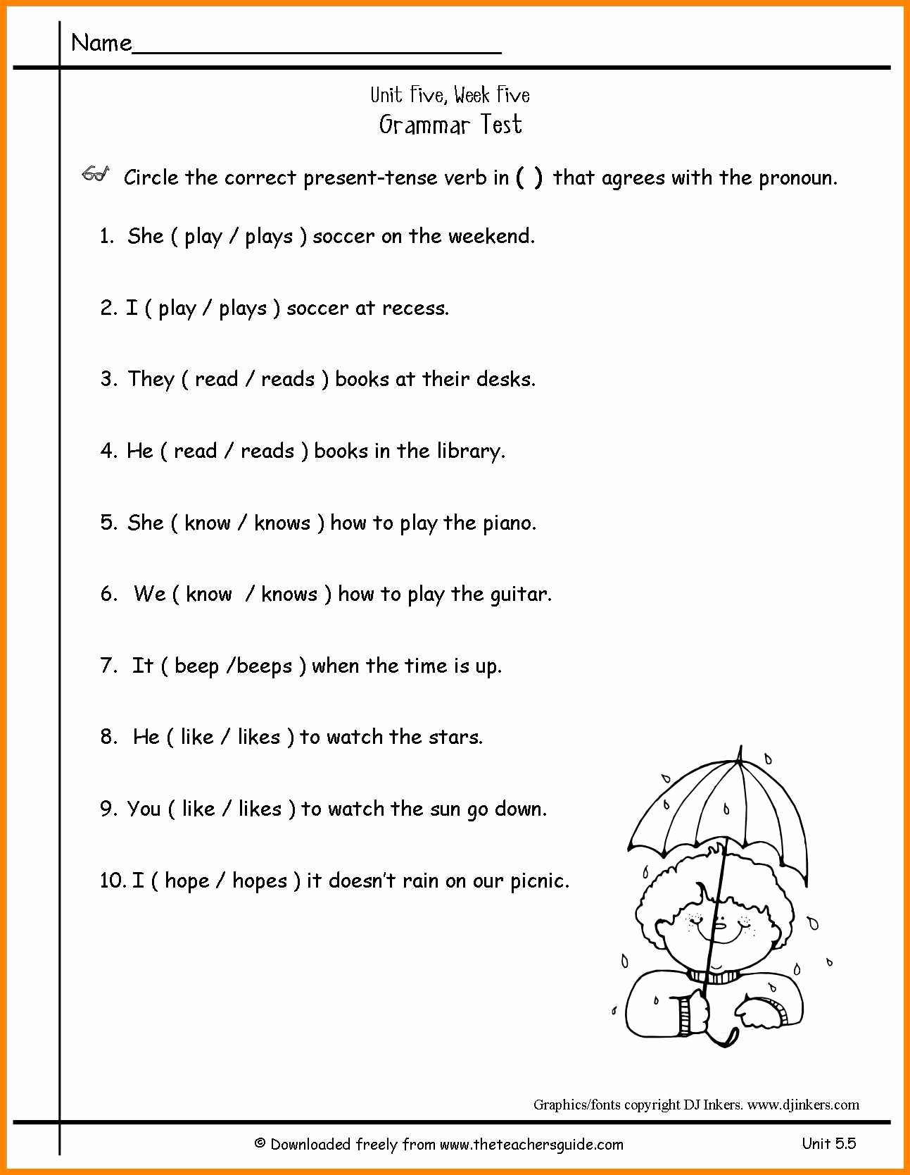 Pronoun Worksheet for 2nd Grade New Free Pronoun Worksheet for 2nd Grade