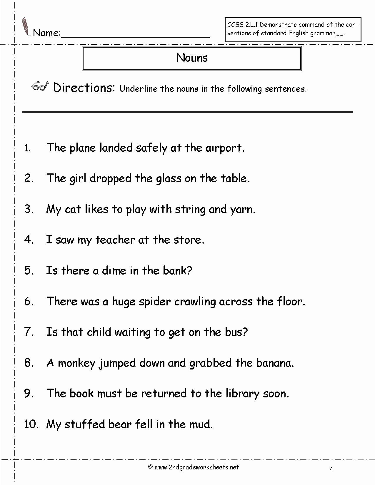Pronoun Worksheets for 2nd Grade Printable Pronoun Worksheets Free Elementary