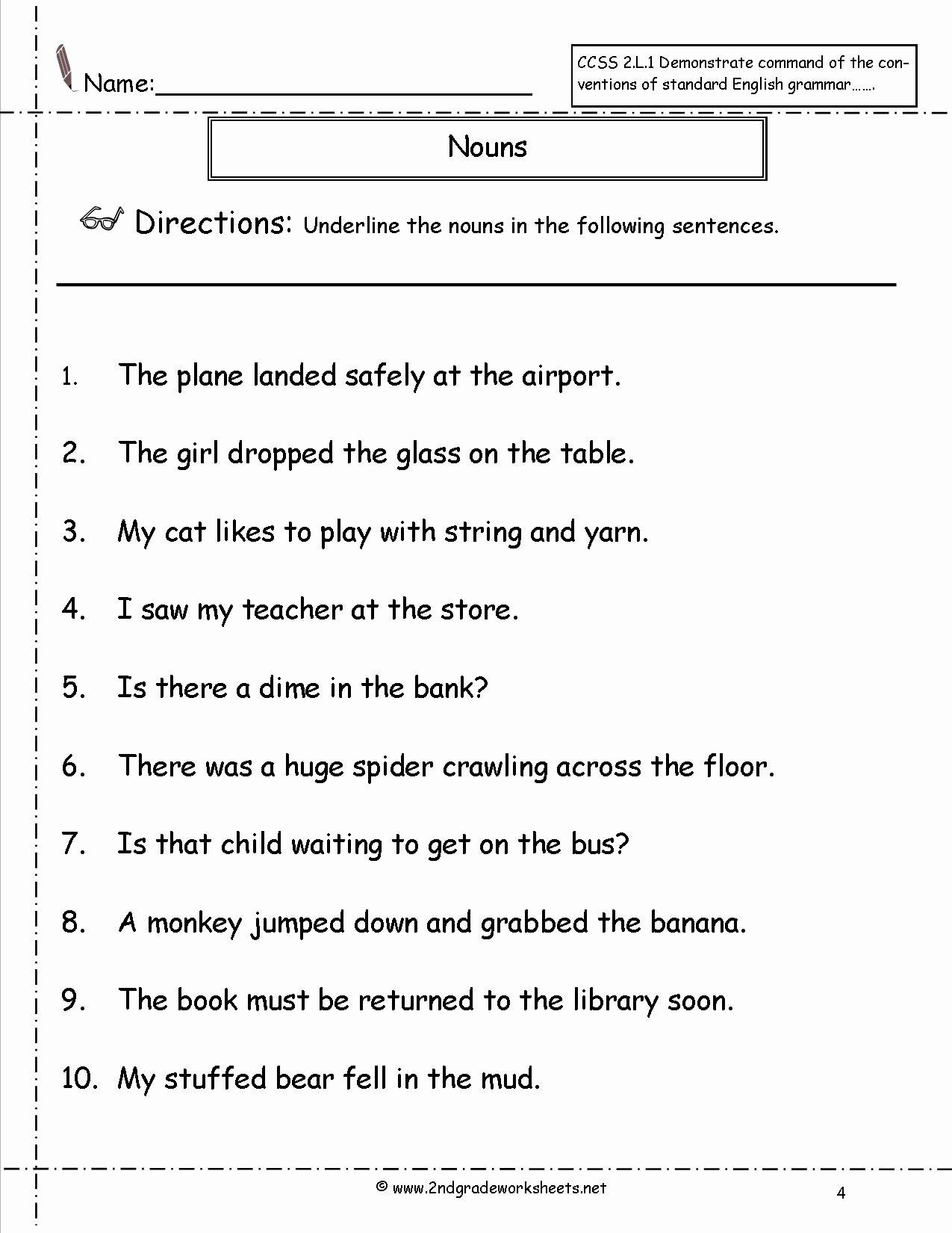 Pronoun Worksheets for 2nd Grade Printable Pronoun Worksheets Free Elementary
