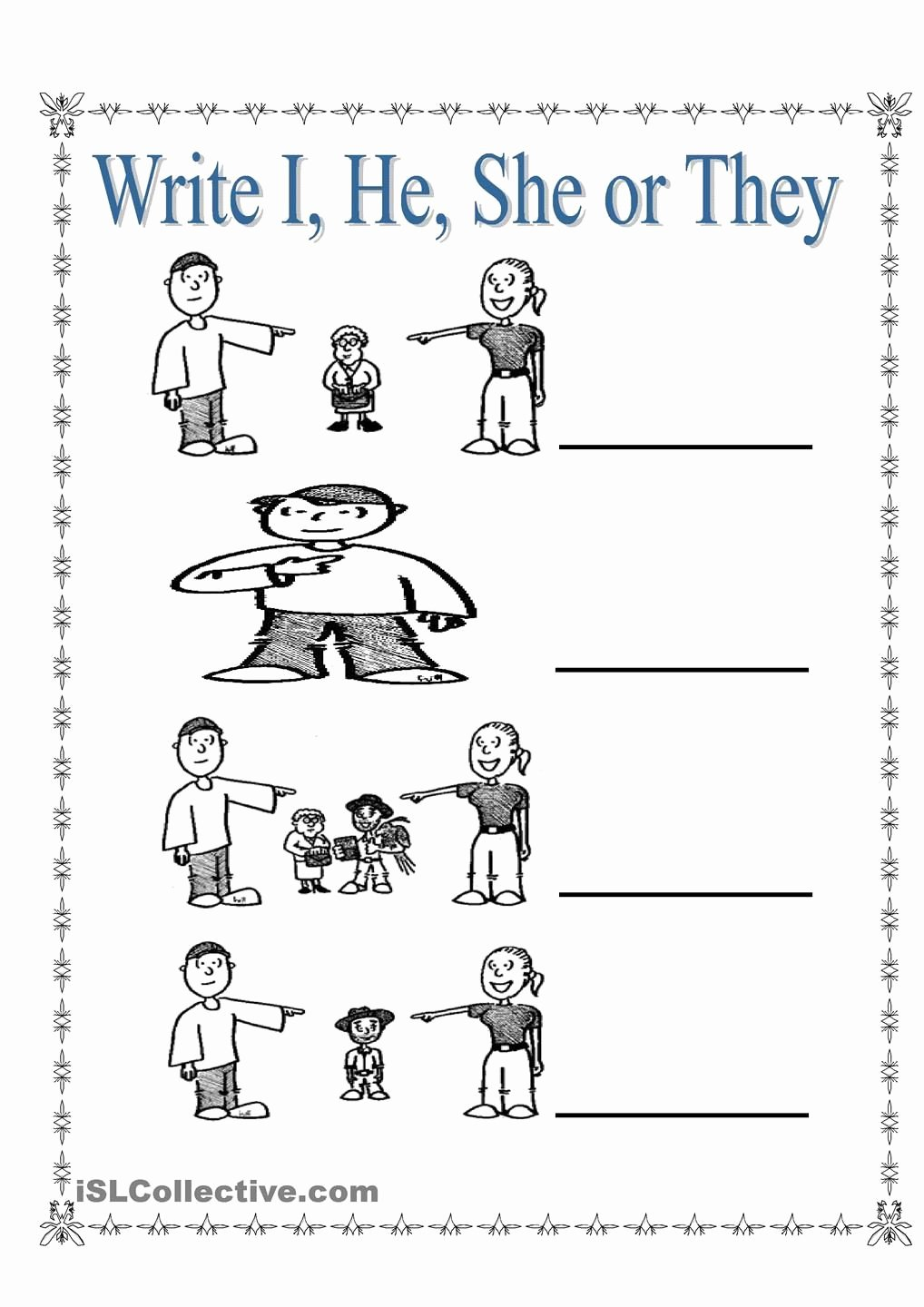 Pronoun Worksheets for Kindergarten Free Best Of Personal Pronouns I She He and they
