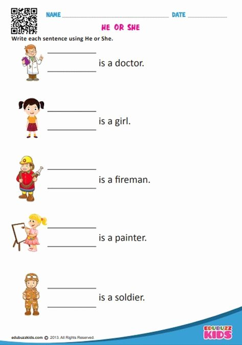 Pronoun Worksheets for Kindergarten Free Kids English Pronouns Worksheets for the Kids Of Kindergarten
