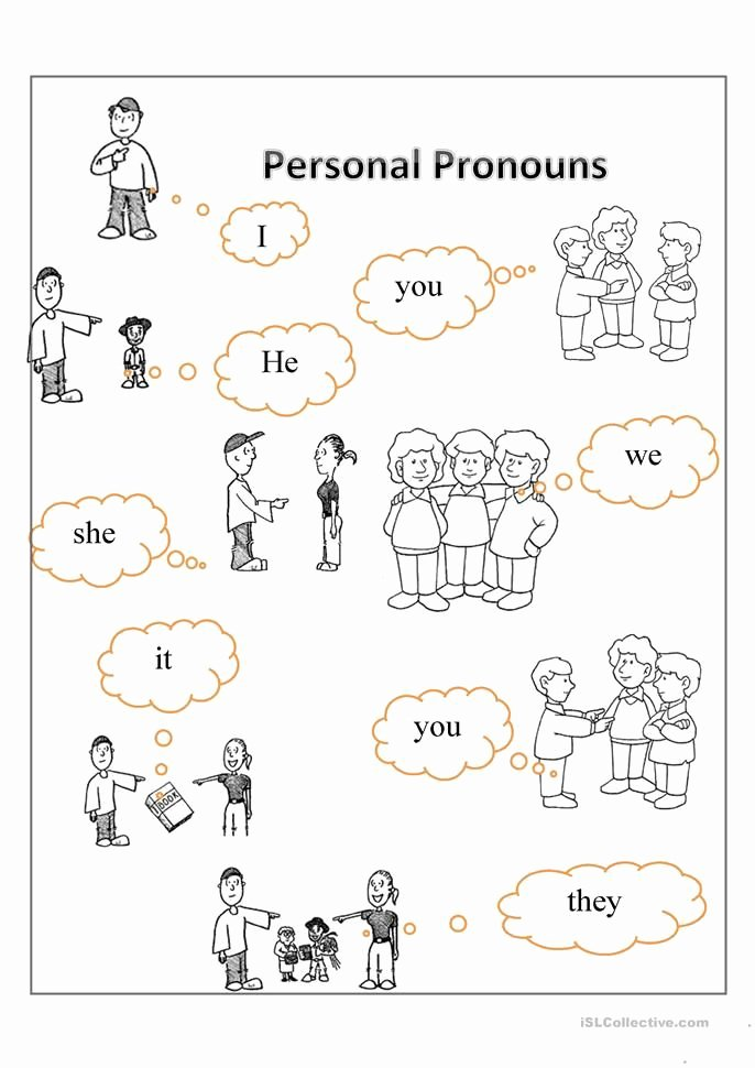 Pronoun Worksheets for Kindergarten Free Lovely Personal Pronouns Free Esl Worksheets