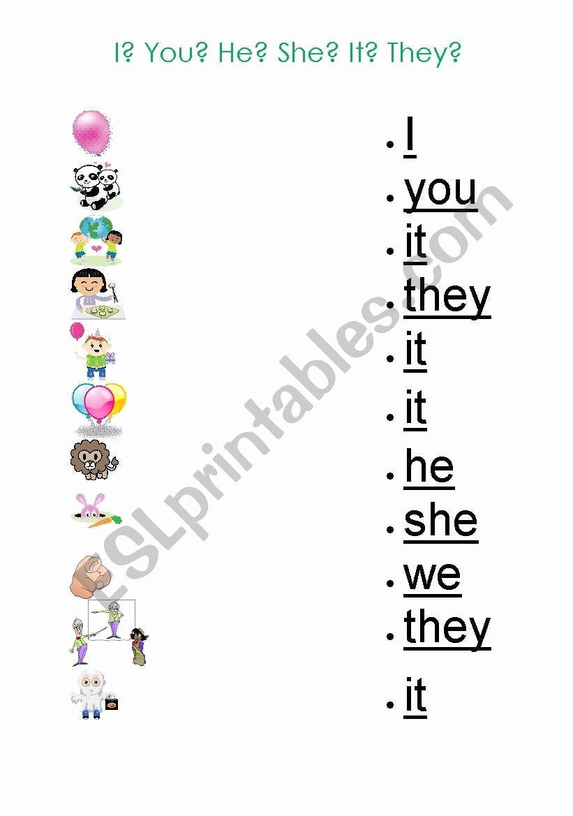 Pronoun Worksheets for Kindergarten Free Printable Pronouns Worksheet for Kids Esl Worksheet by Gizmogwai