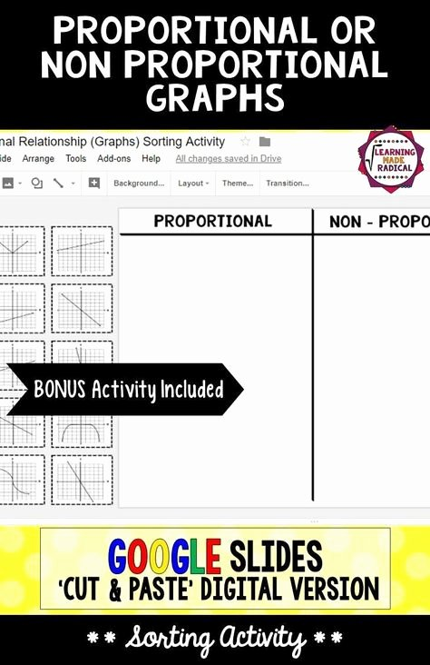 Proportional and Nonproportional Relationships Worksheet Fresh Proportional and Non Proportional Relationship Graphs