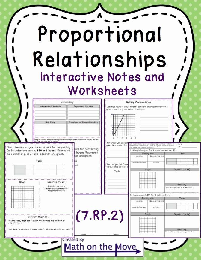 Proportional Reasoning Worksheets 7th Grade Kids Proportional Relationships Tables Graphs Equations