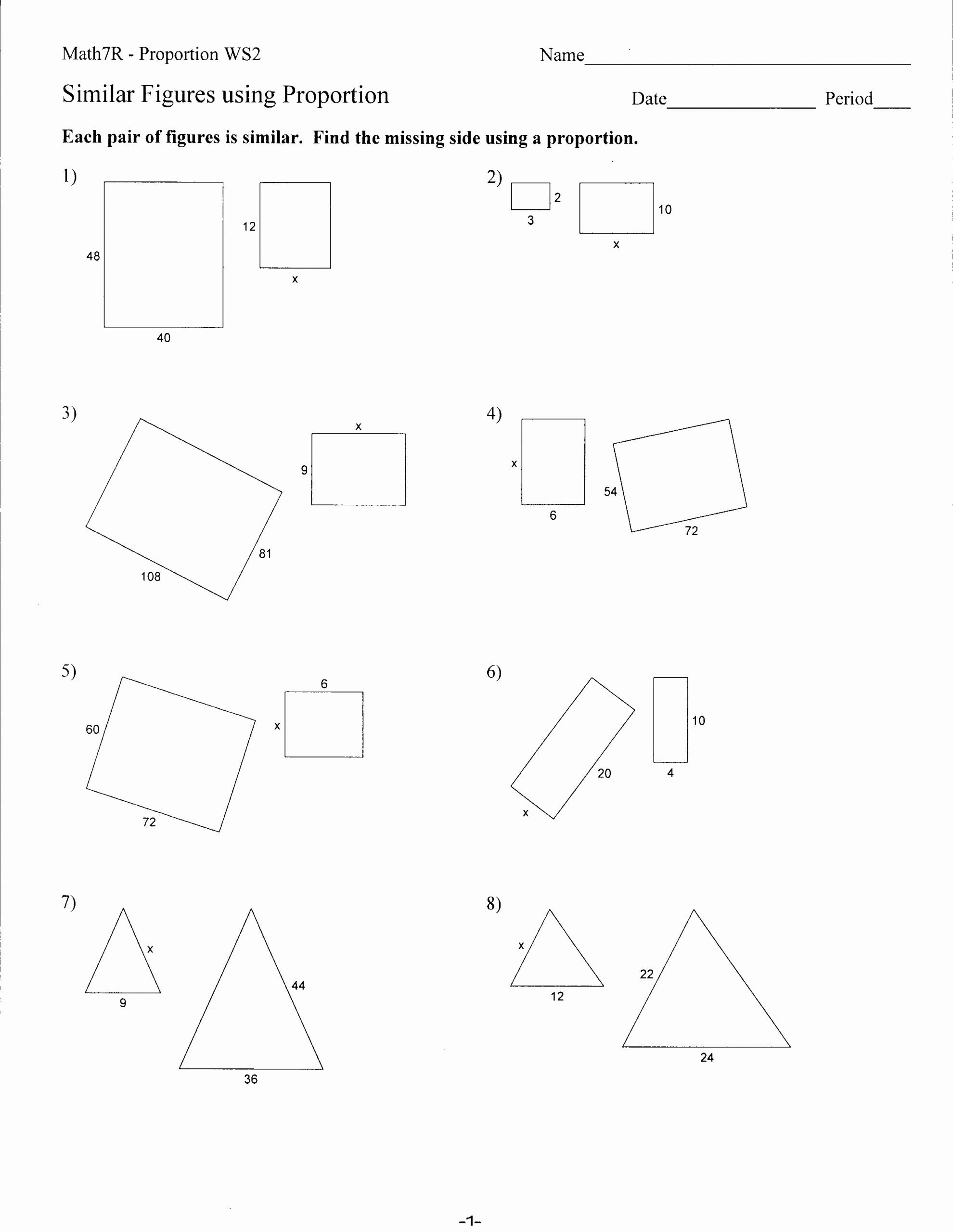 Proportions and Similar Figures Worksheet Ideas Worksheets Mrs Lay S Webpage 2011 12
