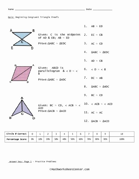 Proving Triangles Congruent Worksheet Answers Lovely 29 Congruent Triangles Proof Worksheet Worksheet Project List