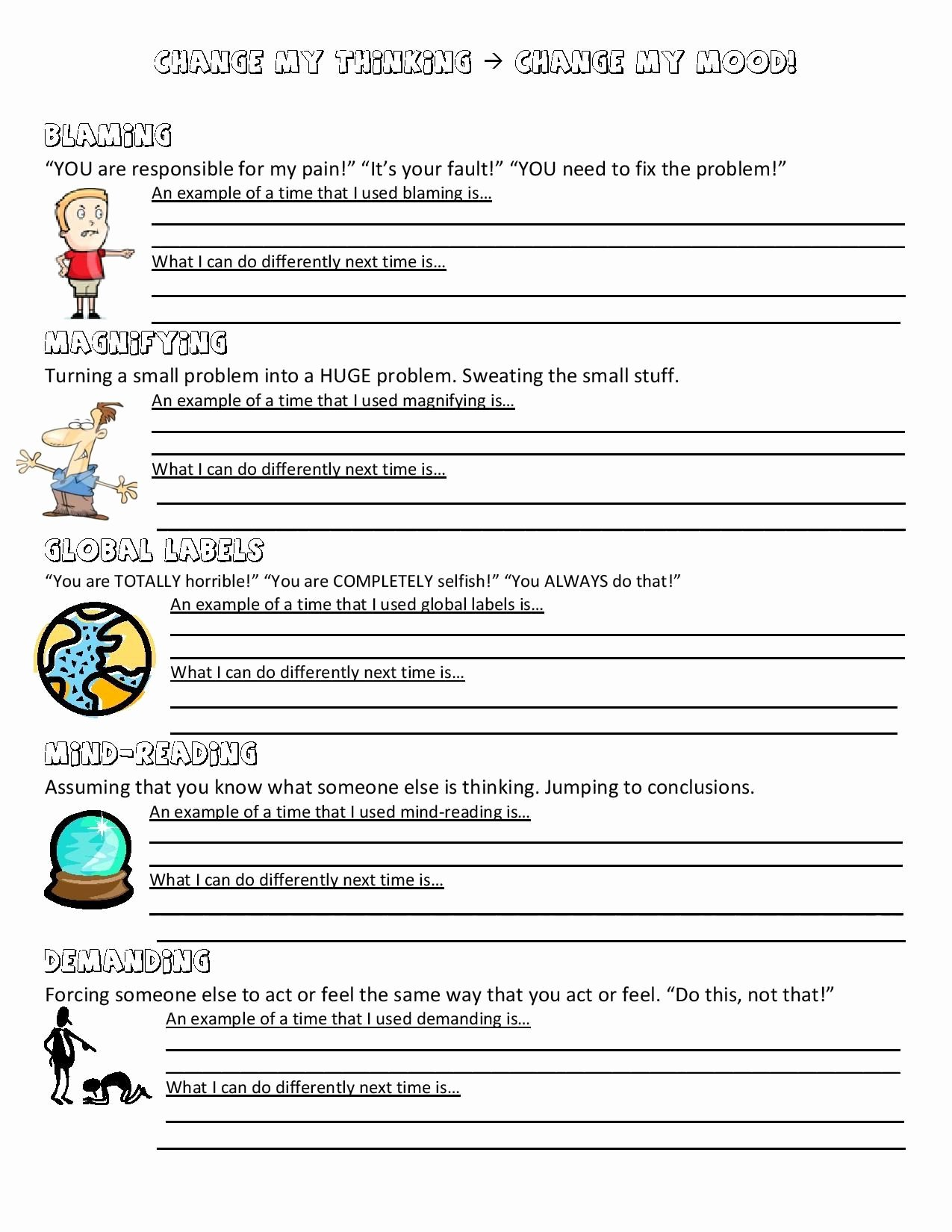 Psychology Worksheets for Highschool Students New Psychology Worksheets for Highschool Students