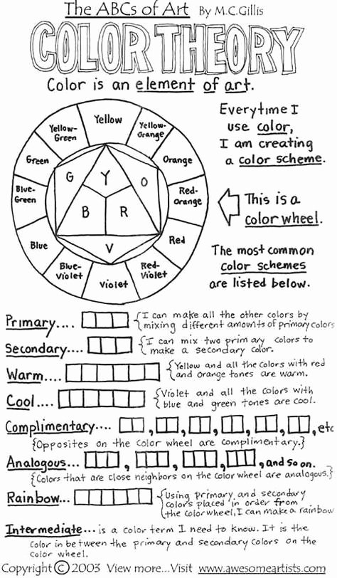 Psychology Worksheets for Highschool Students top Psychology Color theory Basics Download and Print Color