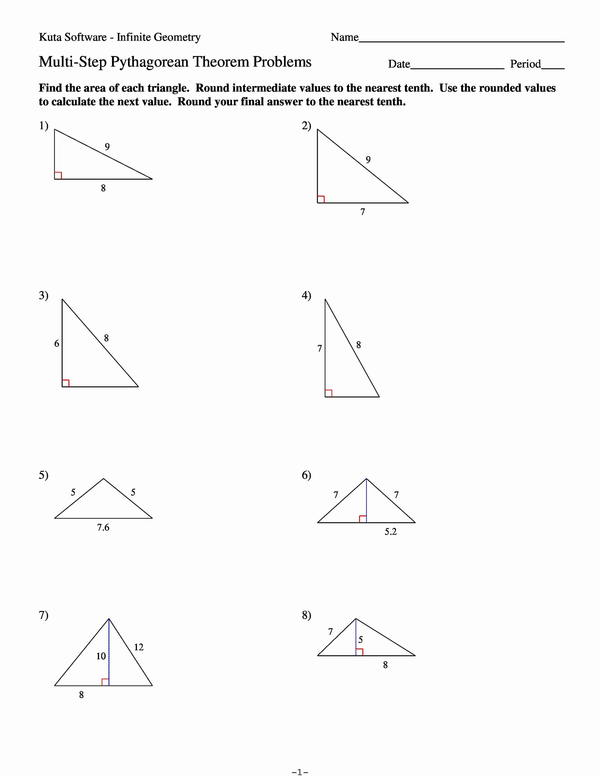 Pythagoras theorem Worksheet with Answers top 48 Pythagorean theorem Worksheet with Answers [word Pdf]