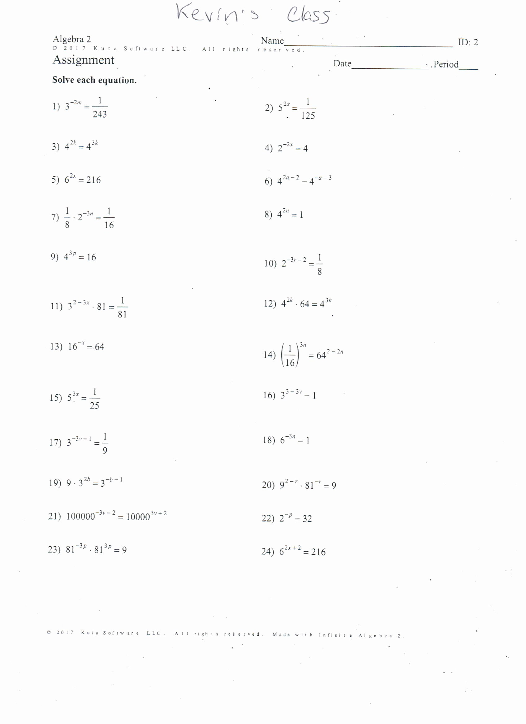 Quadratic Equation Worksheet with Answers Kids Fun Quadratic Equations Worksheet