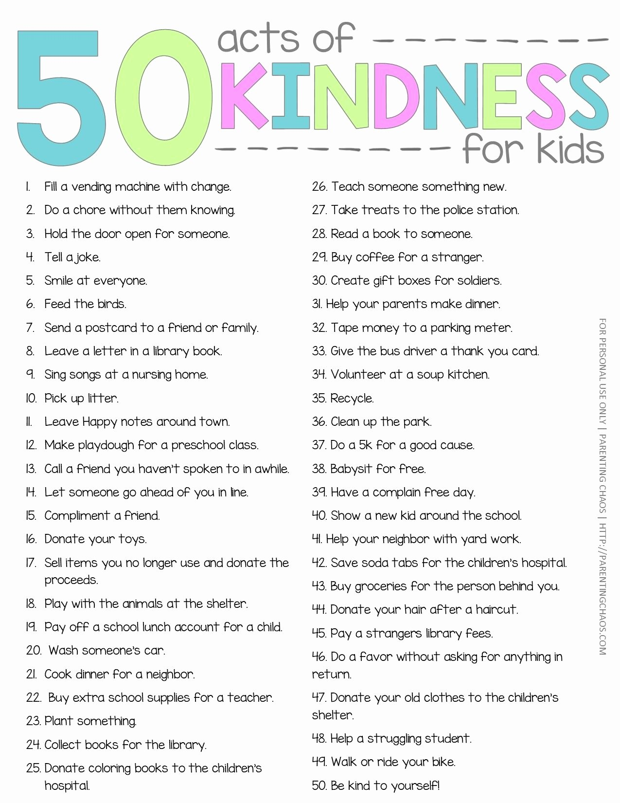 Random Acts Of Kindness Worksheets top Random Acts Of Kindness Printable Journal ⋆ Parenting Chaos