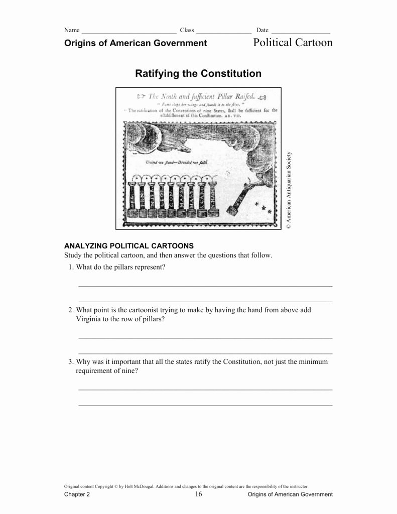 Ratifying the Constitution Worksheet Answers Ideas Ratifying the Constitution Worksheet Answers Inspirational