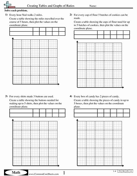 Ratio Tables 6th Grade Worksheets Kids Creating Tables and Graphs Of Ratios Worksheet On Ratio