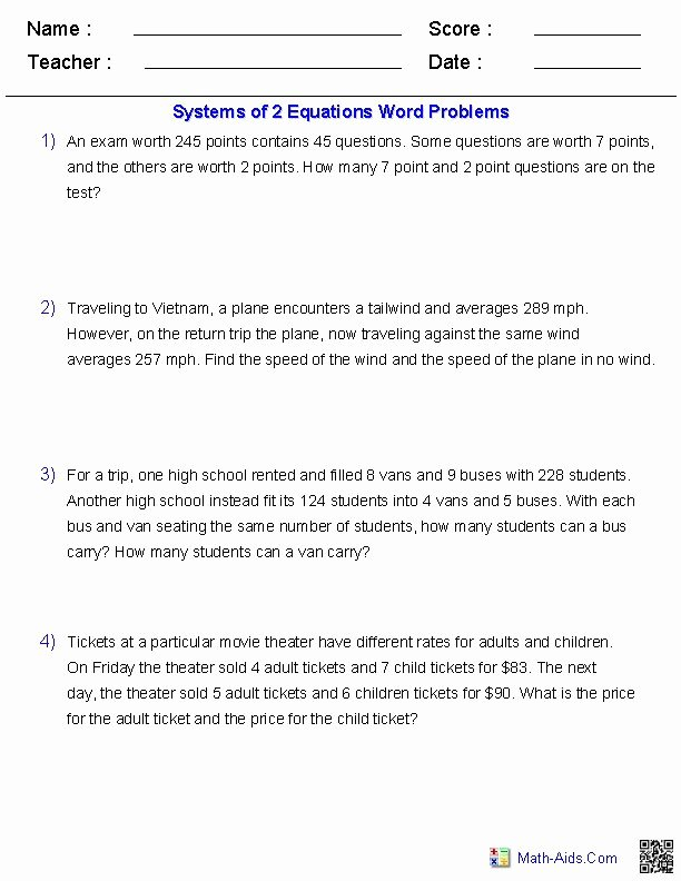 Rational Equations Word Problems Worksheet Inspirational Algebra 2 Worksheets