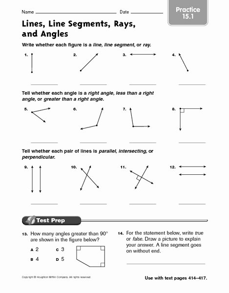 Rays Lines Line Segments Worksheet Fresh Lines Segments Rays and Angles Lessons Tes Teach