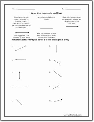 Rays Lines Line Segments Worksheet Ideas Lines Line Segments and Rays Worksheet