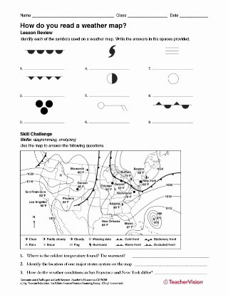 Read A Weather Map Worksheet Best Of How Do You Read A Weather Map Weather Science Printable