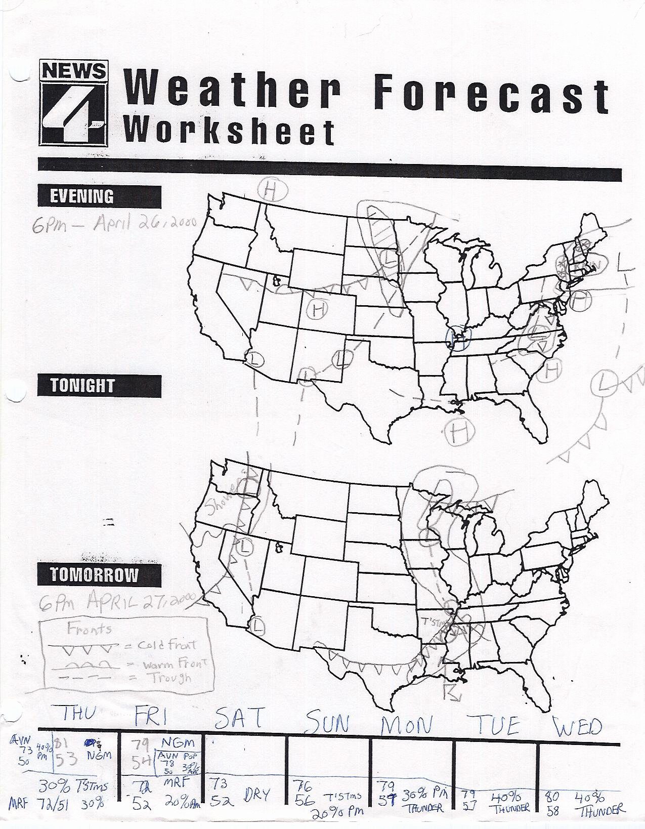 Read A Weather Map Worksheet Kids Reading A Map Worksheet