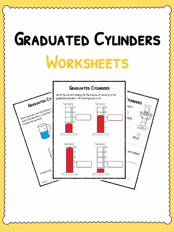 Reading A Graduated Cylinder Worksheet top Graduated Cylinders Worksheet