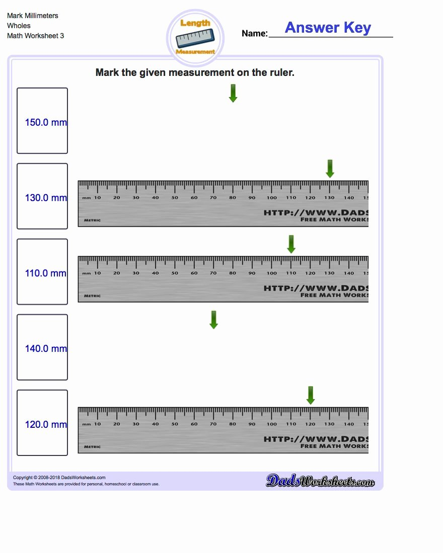 Reading A Metric Ruler Worksheet Kids Mark the Ruler In Metric